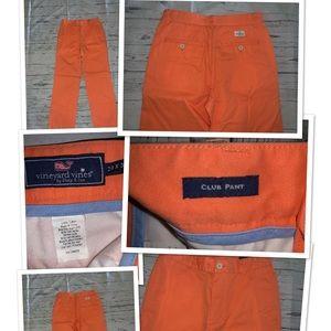 Vineyard vines men's orange Club Pants  pants 28